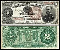 1890 two-dollar bill
