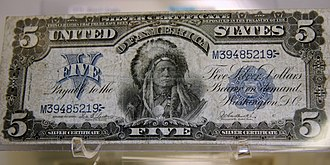 1899 in the United States - 1899 US $5 silver certificate