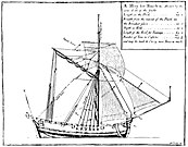 18th-century diagram of a hoy