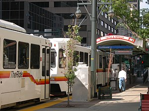 18th & California and 18th & Stout stations - Image: 18th stout rtd