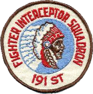 191st Air Refueling Squadron - Legacy 191st Fighter-Interceptor Squadron Emblem
