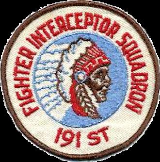 191st Air Refueling Squadron - Legacy 191st Fighter-Interceptor Squadron Emblem