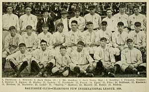 The National Baseball Association's top 100 minor league teams - 1920 Baltimore Orioles, No. 9