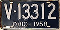 1958 Ohio license plate.JPG