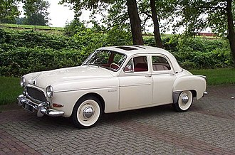 Ponton (car) - 1959 Renault Frégate, a typical postwar design with ponton styling