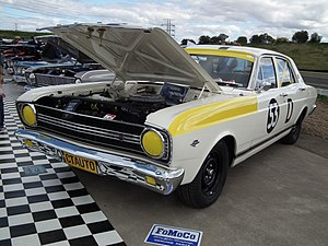 "1967 Gallaher 500 - A ""race replica"" of the second placed Ford XR Falcon GT of Ian Geoghegan and Leo Geoghegan"