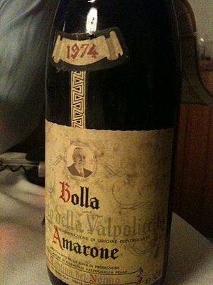 A bottle of the Italian wine Amarone della Val...