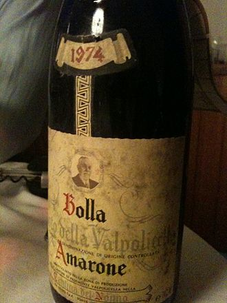 Valpolicella - Bolla was one of the first producers to commercially market an Amarone wine from Valpolicella.