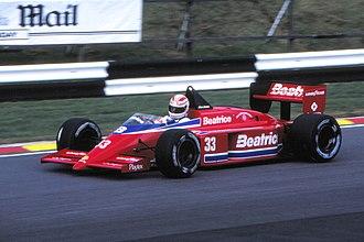 Alan Jones (racing driver) - Jones during practice for the 1985 European Grand Prix
