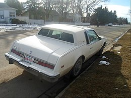 1985 Oldsmobile Toronado Caliente rear (8556976583).jpg