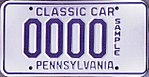 1987 Pennsylvania license plate classic car Sample.jpg