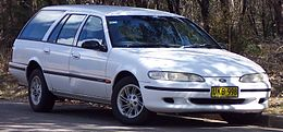 1996 Ford Falcon (EF II) GLi station wagon (2007-08-25).jpg