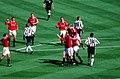 1999 FA Cup Final Scholes goal celeb (cropped).jpg