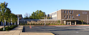 Baltimore Polytechnic Institute - Baltimore Polytechnic Institute's current building on Falls Road