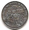 1 песо. Куба. 1990. 500 лет открытию Америки. Отплытие из порта Палос.jpg