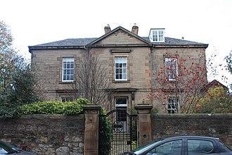 W. V. D. Hodge - Hodge's home at 1 Church Hill Place, Edinburgh