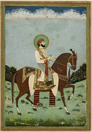 Jai Singh II - Image: 1 Maharaja Sawai Jai Singh II ca 1725 Jaipur. British museum
