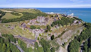Dover Castle - Aerial panorama of the castle