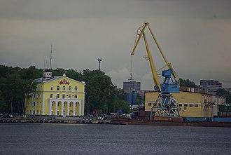 Yuzhnoportovy District - The former South River Port Building, Moscow River, Yuzhnoportovy District
