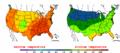2002-09-11 Color Max-min Temperature Map NOAA.png