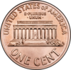 Lincoln Memorial on reverse of U.S. one cent coin