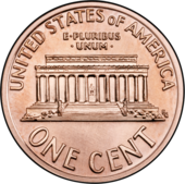 Lincoln Memorial penny