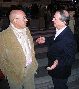 Iñaki Anasagasti - Anasagasti and Javier Rojo, President of the Senate