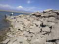 2011年8月14日阿苇滩水库白石头水位情况不好钓鱼水落石出 余华峰 - panoramio.jpg