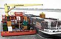 2011 11 25 Port Feeder Barge Binnenschiff Malchow 1.JPG