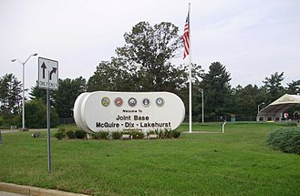 Lakehurst Maxfield Field - Front gate at Lakehurst