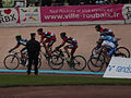 2012 Paris-Roubaix, Group- Amador, Schar, Hincapie, Burghardt, Larsen, Hutarovich, (7070585969).jpg