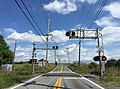 2016-08-25 14 55 42 View east along West Virginia State Route 901 (Hammonds Mill Road) at a railroad crossing between Ridge Road and Little Georgetown Road in North Mountain, Berkeley County, West Virginia.jpg