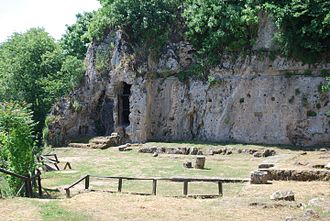 "Mieza, Macedonia - Excavations of the ""Aristotle School"" near Naousa."