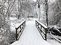 2018-03-21 11 48 18 View along a snow-covered walking path as it crosses a bridge in the Franklin Farm section of Oak Hill, Fairfax County, Virginia.jpg