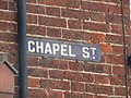 2018-05-03 Street name sign, Chapel Street, Cromer.JPG