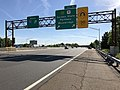 2018-05-21 08 55 17 View north along Interstate 95 (New Jersey Turnpike) at Exit 11 (Garden State Parkway, U.S. Route 9, Woodbridge) in Woodbridge Township, Middlesex County, New Jersey.jpg