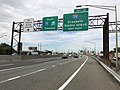 2018-06-20 09 22 32 View south along Interstate 95 (New Jersey Turnpike) just north of Exit 13 (Interstate 278, Elizabeth, Staten Island) in Elizabeth, Union County, New Jersey.jpg