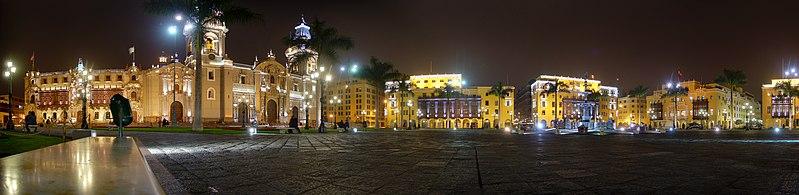 Vista de Lima de noche