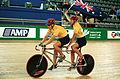 231000 - Cycling track Darren Harry Paul Clohessy Australian flag 2 - 3b - 2000 Sydney race photo.jpg