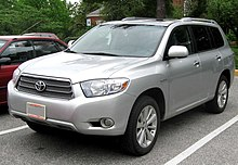 Pre Facelift Toyota Highlander Hybrid Limited Us