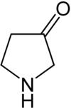 Strukturformel von 3-Pyrrolidon
