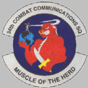 34th Combat Communications Squadron - 34th Combat Communications Squadronemblem