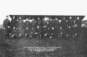 5th Pursuit Group - Pilots of the 41st Aero Squadron, Lay-Saint-Remy Aerodrome, France, November 1919