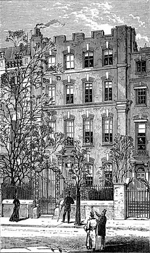 Cheyne Walk - 4 Cheyne Walk, shown here in 1881, was briefly the home of George Eliot