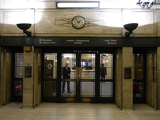 St. James's Park tube station - Image: 55 Broadway, London 01