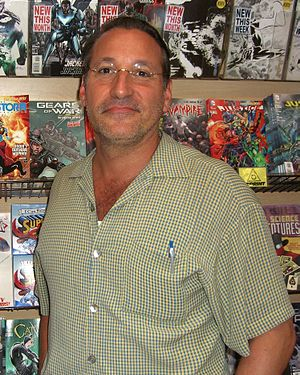 Chip Kidd - Kidd at a June 2012 book signing at Midtown Comics in Manhattan