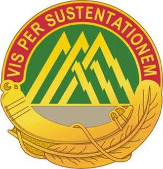 210th Field Artillery Brigade - Image: 70 Spt Bn DUI