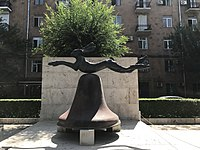 8. Hare on Bell on Portland Stone Piers by Barry Flanagan (rue Tamanian).jpg
