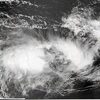 2009–10 Australian region cyclone season - Image: 91SINVEST.25kts 1004mb 150S 1054E.100pc