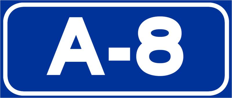 señal de tráfico: A-8
